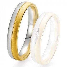 Alliances Breuning - Alliance de mariage Breuning - 2 ors OG/OJ 4.5 mm - 1303424845B