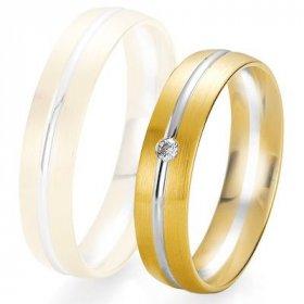 Alliance Diamant homme - Alliance de mariage Breuning - 2 ors OG/OJ 5.0mm + diamant - 1377425150B