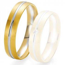 Alliance de mariage Breuning -  2 ors OG/OJ 5.0 mm - 1303425250B
