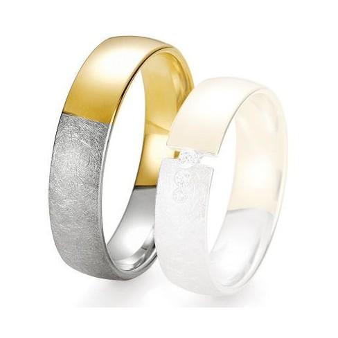 Alliance de mariage Breuning - 2 ors OG/OJ 5.5 mm - 1303425455B