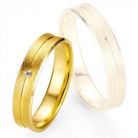 Alliance Diamant homme - Alliance de mariage Breuning - Oor jaune 4.5mm + diamant - 1377400145G
