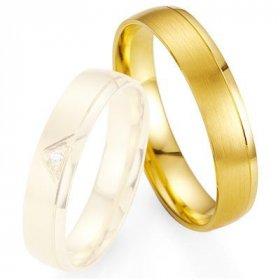 Alliance de mariage Breuning - Or jaune 4.5mm - 1303400645G
