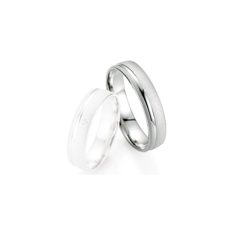 Alliance de mariage Breuning - Or gris 5.0mm - 1303402050G