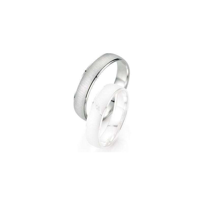 Alliance de mariage Breuning - Or gris 5.0mm - 1303402650G
