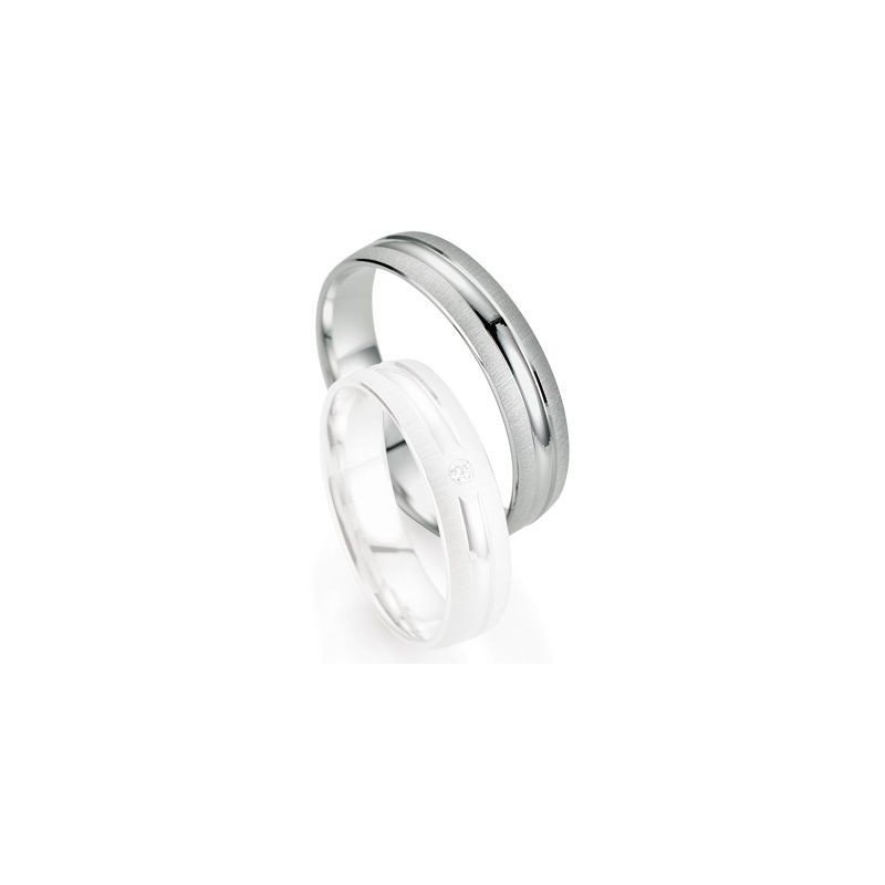 Alliance de mariage Breuning - Or gris 5.0mm - 1303403450G