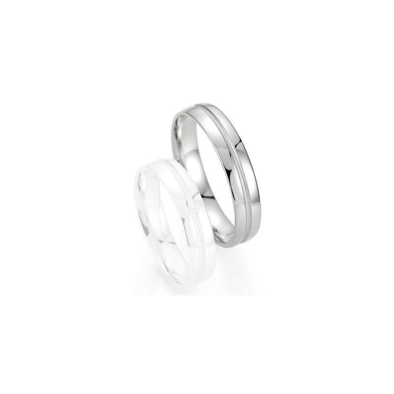 Alliance de mariage Breuning - Or gris 4.5mm - 1303403845G