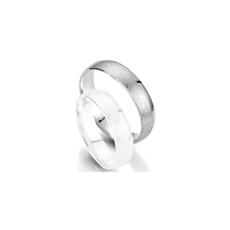 Alliance de mariage Breuning - Or gris 5.0mm - 1303403050G