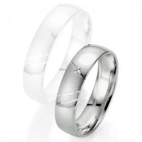 Alliance de mariage Breuning - Oor gris 5.0mm + diamant - 1377403950G