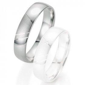 Alliance de mariage Breuning - Or gris 5.0mm - 1303404050G