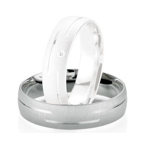 Alliance de mariage Breuning - Or gris 5.5mm1303404255G