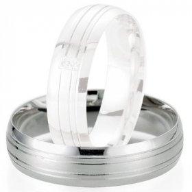 Alliances Breuning - Alliance de mariage Breuning - or gris 5.5mm - 1303404455G
