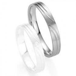 Alliance de mariage Breuning - Or gris 3.5mm - 1303408035G