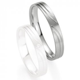 Alliances Breuning - Alliance de mariage Breuning - Or gris 3.5mm - 1303408035G