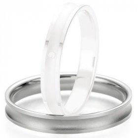 Alliances Breuning - Alliance de mariage Breuning - Or gris 3.5mm - 1303408635G