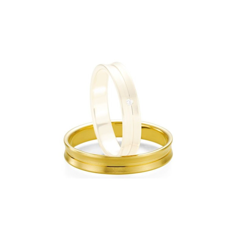 Alliance de mariage Breuning - Or jaune 4.0mm - 1303407640J
