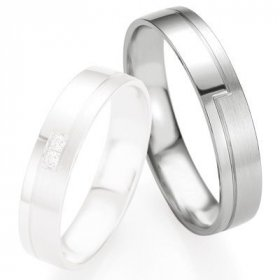 Alliances Breuning - Alliance de mariage Breuning - Or gris 4.5mm - 1303408445G