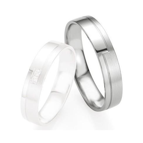 Alliance de mariage Breuning - Or gris 4.5mm - 1303408445G