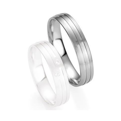 Alliance de mariage Breuning - Or gris 4.5mm1303409045G