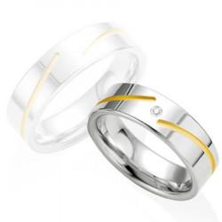 Alliance de mariage Breuning en Argent et Diamant - 13774257A