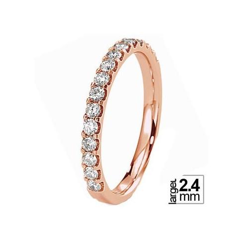 Alliance de mariage Or rose 750 Diamant