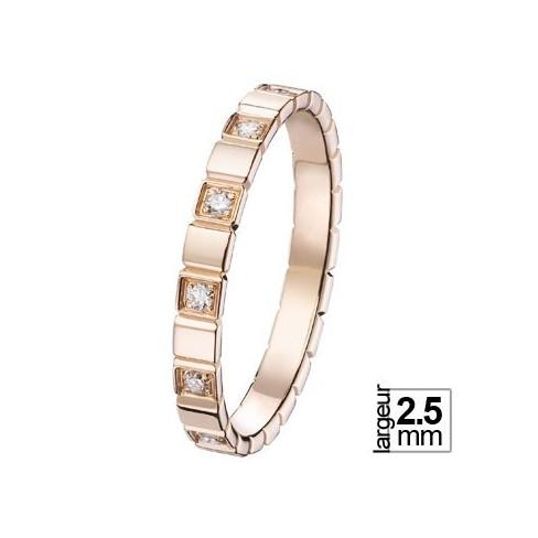 Alliance de mariage Or rose Diamant