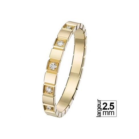 Alliance de mariage Or jaune Diamant