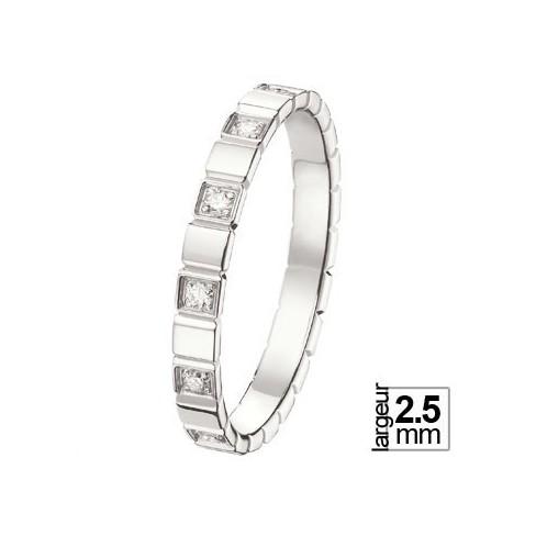 Alliance de mariage Or blanc Diamant