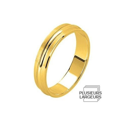 Alliance Or jaune satinée rehaussée - 04030624J - Boutique Alliance