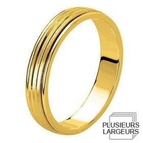 Alliance homme Or jaune - Alliance de mariage Or...