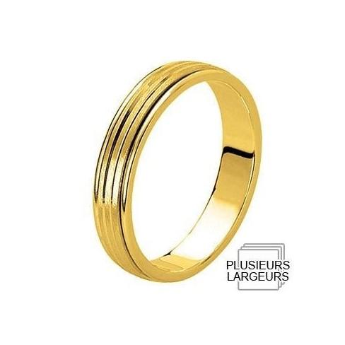 Alliance Or jaune centre satiné -  04030558J - Boutique Alliance