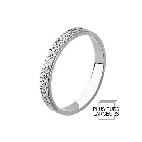 Alliance Or blanc diamantée pour femme - Boutique Alliance