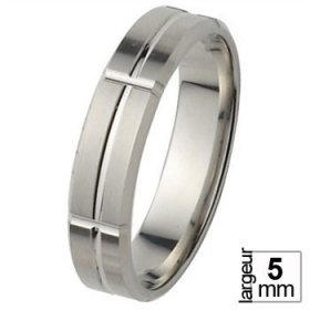 Alliance homme Platine - Alliance de mariage Platine...