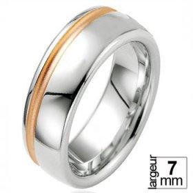 Alliance Argent homme - Alliance de mariage Argent...