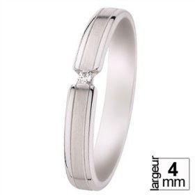 Alliance homme Diamant - Alliance de mariage Or...