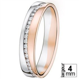Alliance femme originale - Alliance de mariage 2 Ors...