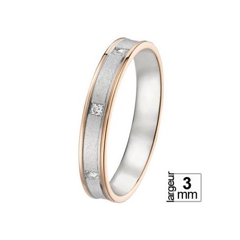 Alliance de mariage Or blanc 750 Diamant - 07777125G - Boutique Alliance