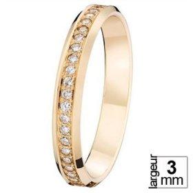 Alliance Diamant - Alliance de mariage Or rose...
