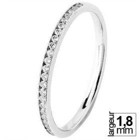 Alliance femme Diamant - Alliance de mariage Or...
