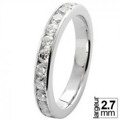 Alliance de mariage Or blanc 750 tour-complet Diamant