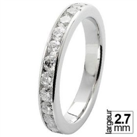 Alliance Diamant tour complet - Alliance de mariage Or...