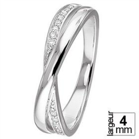 Alliance Or blanc Diamant - Alliance de mariage...