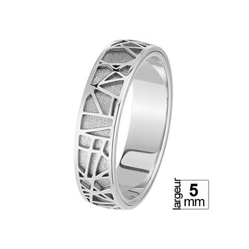 Alliance de mariage Or blanc - 04036157