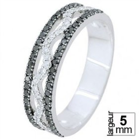 Alliance Diamant noir - Alliance de mariage Or...