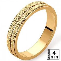 Alliance Or jaune diamantée sur 2 rangs - 04030073J - Boutique Alliance