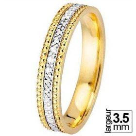 Les diamantées - Alliance de mariage 2 Ors