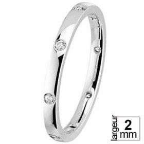 Alliance Diamant tour complet - Alliance de mariage Or...