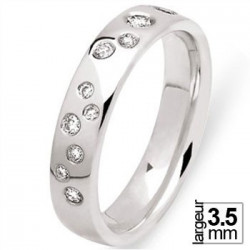 Alliance de mariage Or blanc 750 Diamant