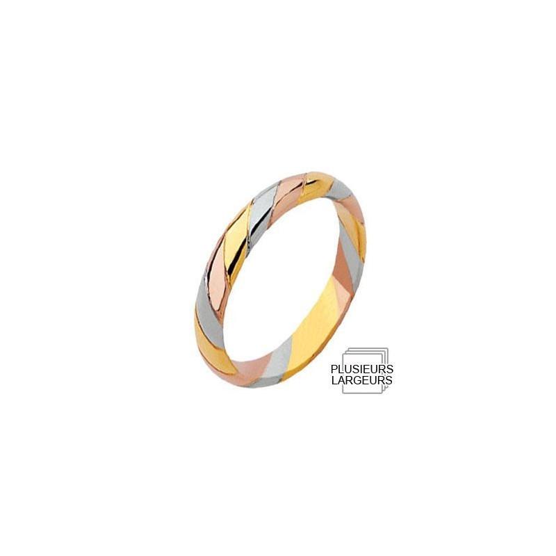 ... Mariage > Alliances Or > Alliance de mariage en Or jaune, Or blanc et