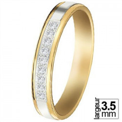 Alliance diamant, or jaune et or blanc 07770469B - Boutique Alliance