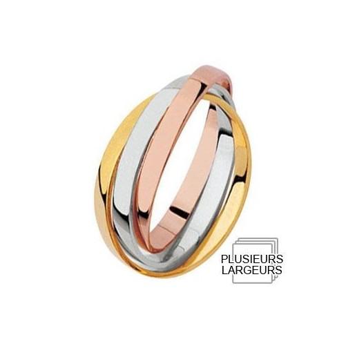 Alliance de mariage entrelacée 3 Ors - 04030123T